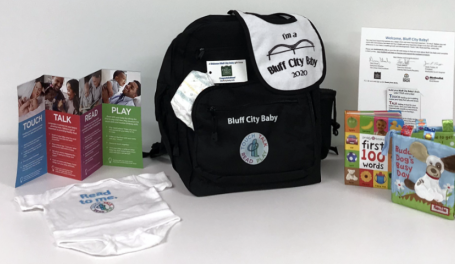 Backpack and helpful materials for parents